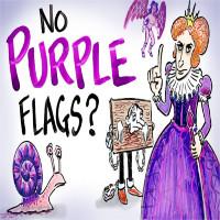 Rất ít quốc gia có cờ màu tím và sự thật là đây này