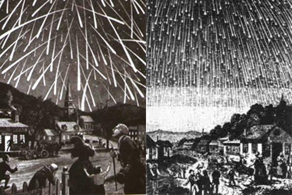 """Hình mô tả sự kiện """"cơn bão"""" sao băng năm 1833."""
