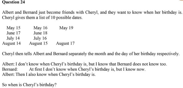 Sinh nhật của Cheryl