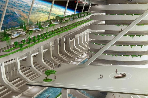 Các công dân Asgardia tương lai sẽ sống trong các công trình ngoài vũ trụ.