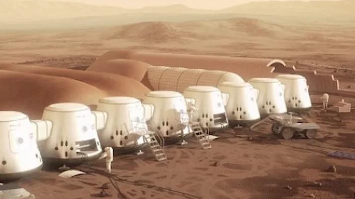 Thuộc địa sao Hỏa trong tương lai.
