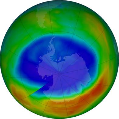 Lỗ hổng tầng ozone nhỏ nhất vừa được NASA công bố trong tháng này