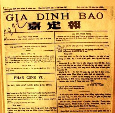 Gia Định báo, tờ báo đầu tiên in bằng chữ quốc ngữ