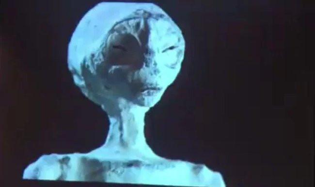 """Cận cảnh khuôn mặt """"người ngoài hành tinh""""."""