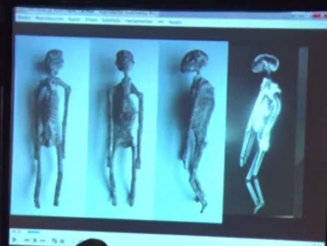 """Các """"xác ướp người ngoài hành tinh"""" được tìm thấy ở Peru."""