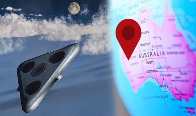 Xác định vị trí bí mật của tam giác TR-3B UFO trên Google Earth.