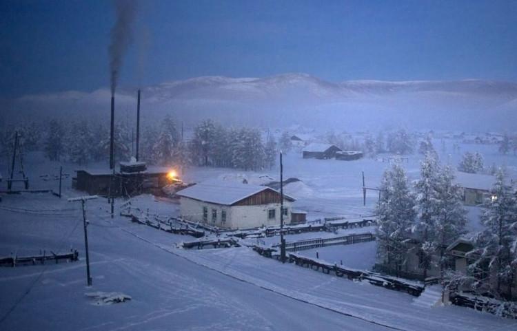 Ngôi làng Oymyakon hiện lên khung cảnh như trong truyện cổ tích.