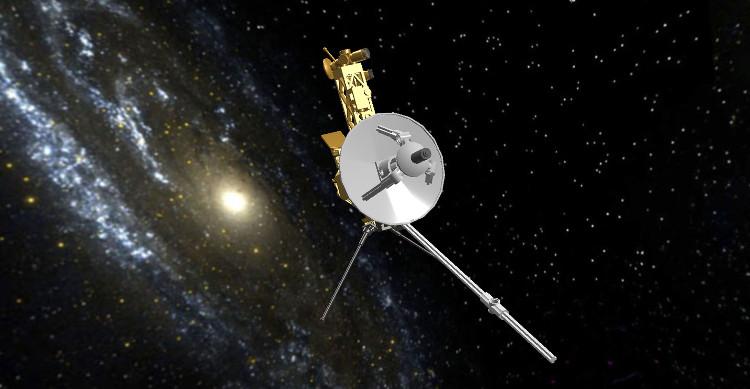 Minh họa tàu Voyager 1.