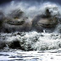 Sóng quái vật mạnh khủng khiếp chôn vùi tàu thuyền trên đại dương
