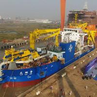 Trung Quốc công bố siêu tàu xây đảo nhân tạo mới