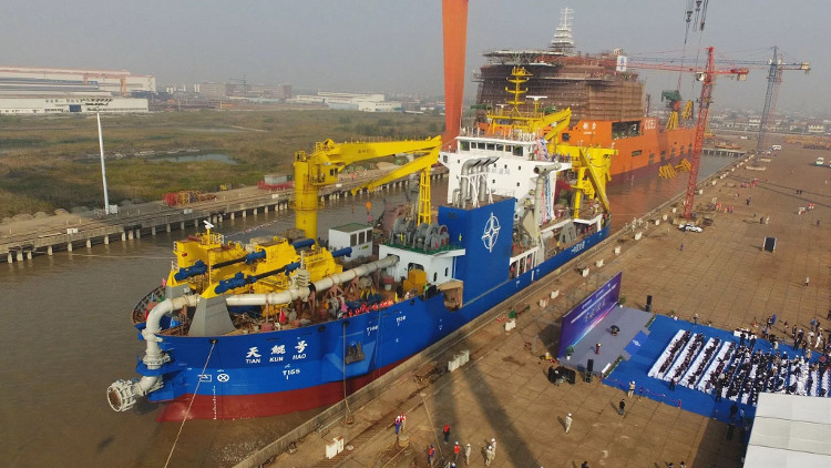 Tàu xây đảo khổng lồ Tiankun mới công bố của Trung Quốc.