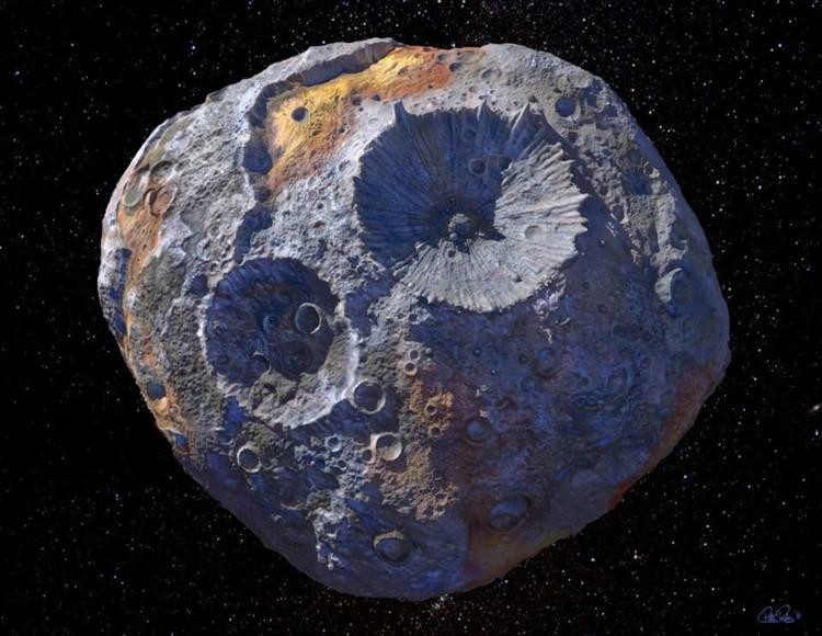 Mô phỏng hình ảnh tiểu hành tinh 16 Pysche.
