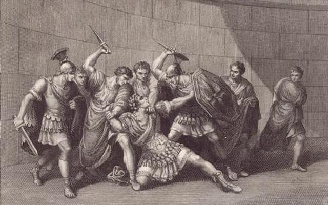 Ảnh minh họa cái chết đau đớn của hoàng đế Caligula.