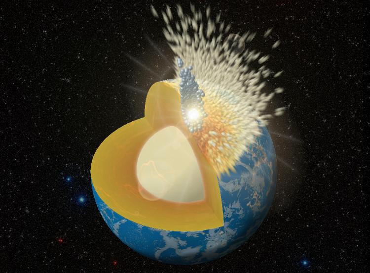 Va chạm giữa một vi thể hành tinh với Trái đất