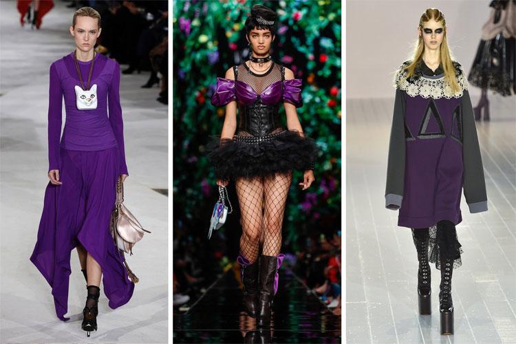 Màu tím trong thiết kế thời trang