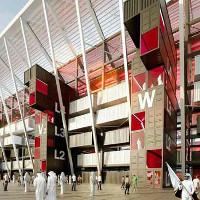 Xây sân vận động bóng đá từ… container