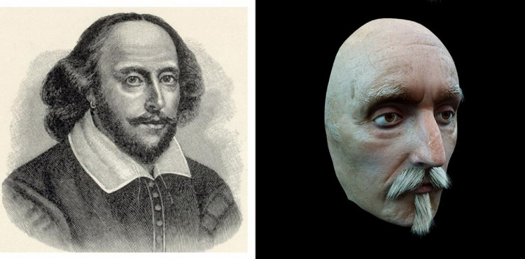 Hình ảnh dựng lại cho thấy William Shakespeare có một khuôn mặt khá buồn.