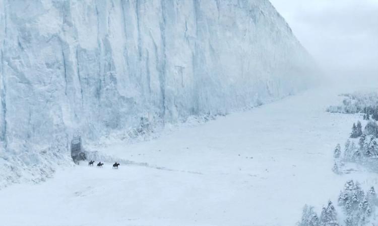 """Bức tường băng đồ sộ trong phim """"Game of Thrones"""""""