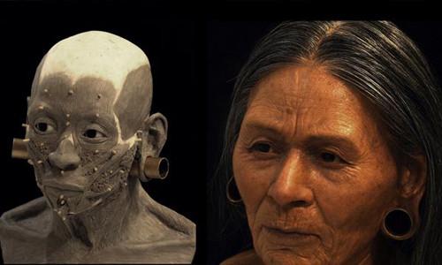 Gương mặt người phụ nữ quý tộc được phục dựng tỉ mỉ.