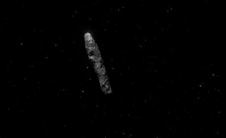 'Oumuamua có hình dáng thuôn dài đặc biệt giống một điếu thuốc