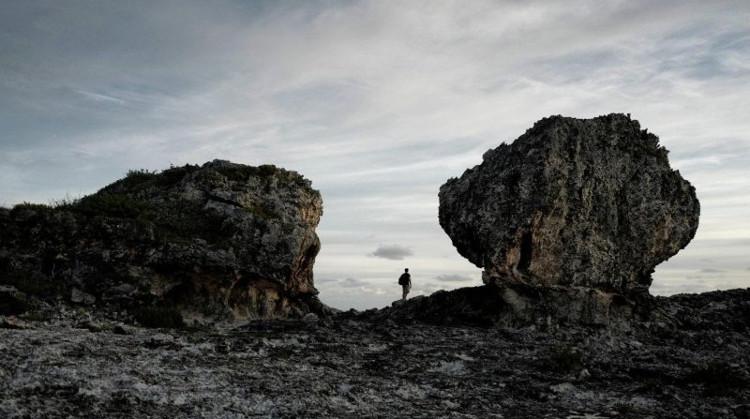 """Hai tảng đá khổng lồ, được gọi là """"Bò cái và Bò đực"""", trên đảo Eleuthera – Bahamas."""