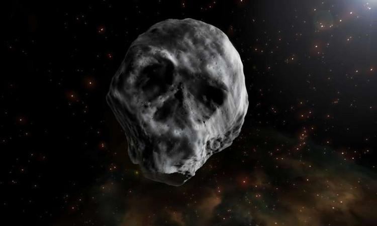 Tiểu hành tinh TB145 gây chú ý vì hình dạng giống như sọ người.
