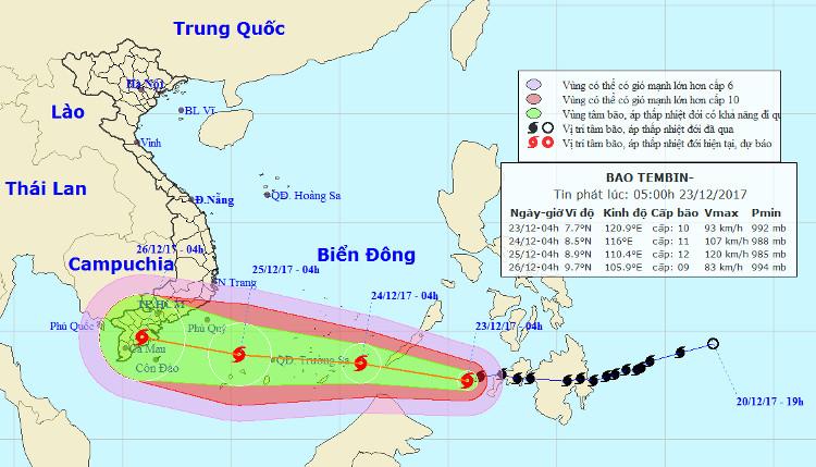 Sau khi vào biển Đông, bão số 16 sẽ di chuyển nhanh và tiếp tục mạnh thêm.