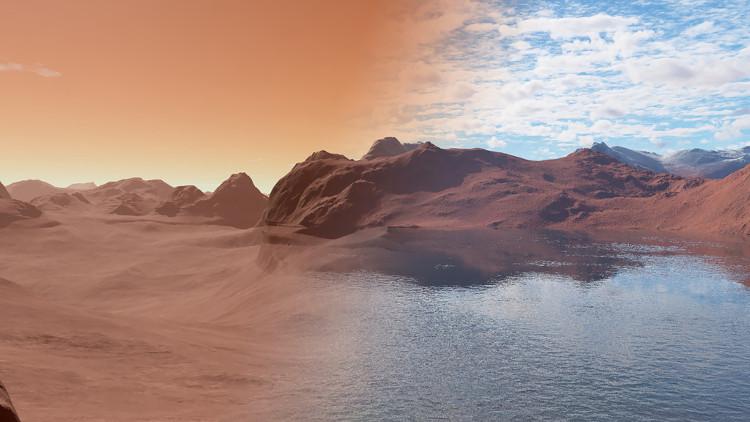 Sao Hỏa hiện tại và 3,5 tỉ năm trước