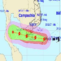 Tối nay bão Tembin vào Cà Mau