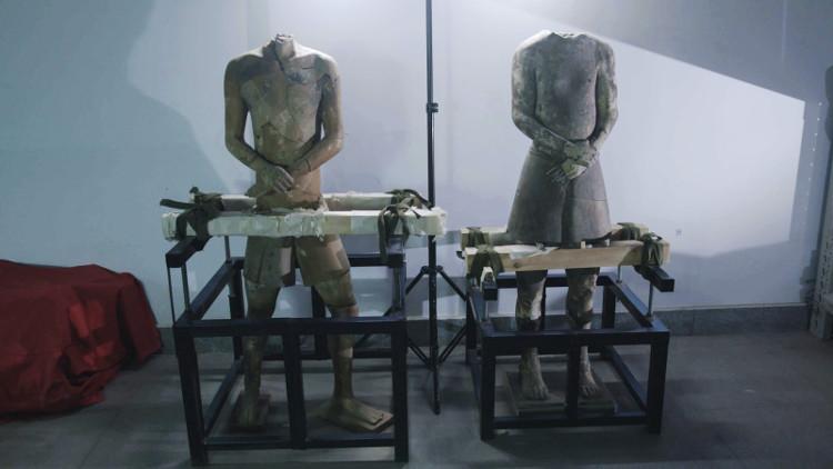 Bức tượng mang yếu tố Hy Lạp.