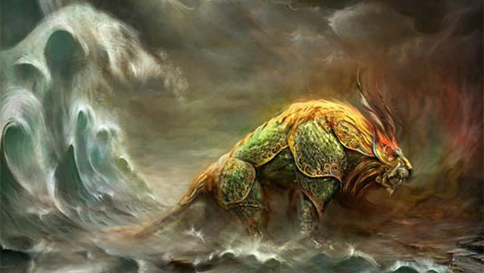 Quái thú Nian được mô tả là những sinh vật to lớn
