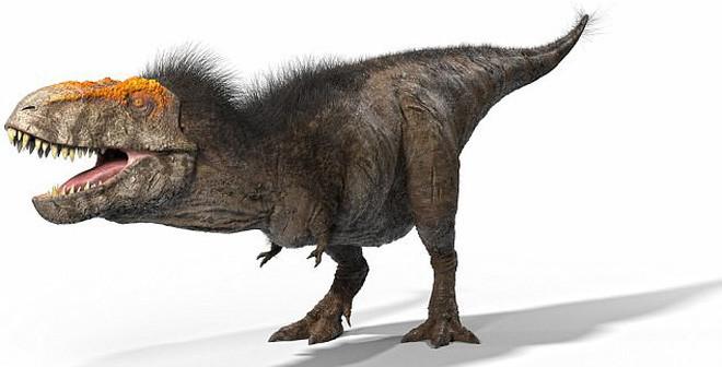 Hình ảnh khủng long bạo chúa sau khi đã phục dựng.