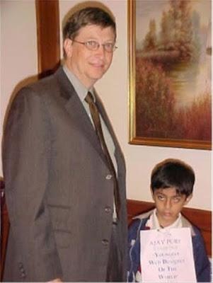 Cậu bé Ajay Puri, sinh tại Hyderabad
