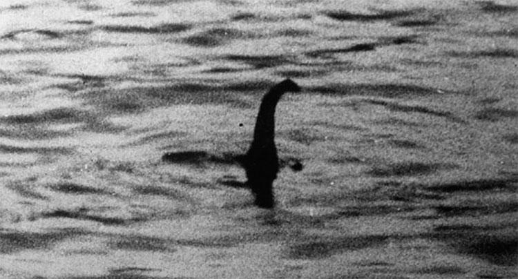 Ảnh chụp sinh vật được cho là quái vật hồ Loch Ness.