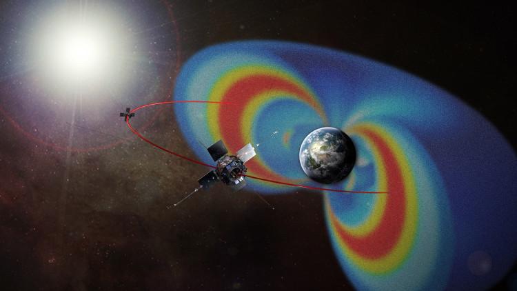 Vành đai bức xạ Van Allen bao quanh Trái đất.