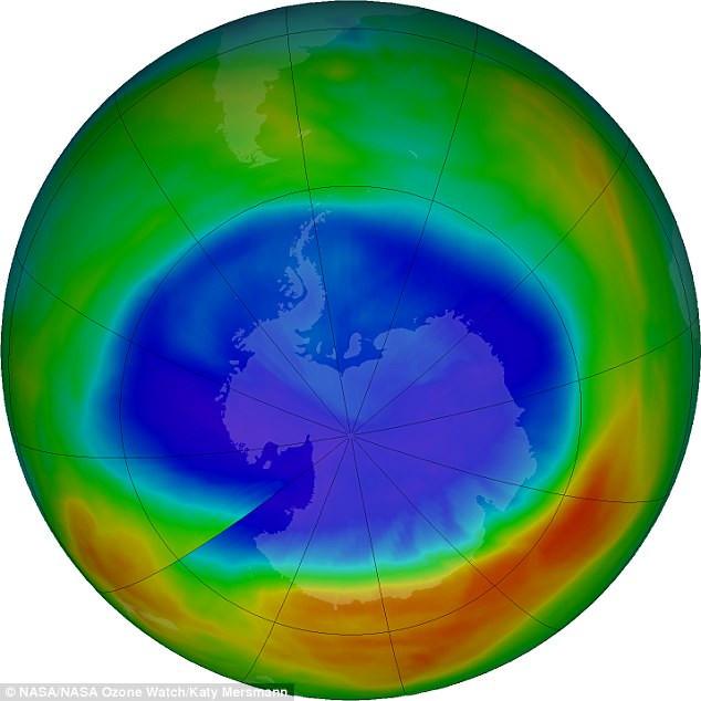 Tầng Ozone đã phục hồi thêm khoảng 20% so với năm 2005.