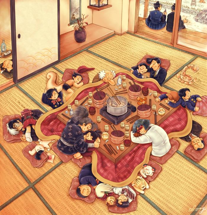 Người Nhật xem bàn kotatsu là một phần quan trọng trong đời sống thường ngày.
