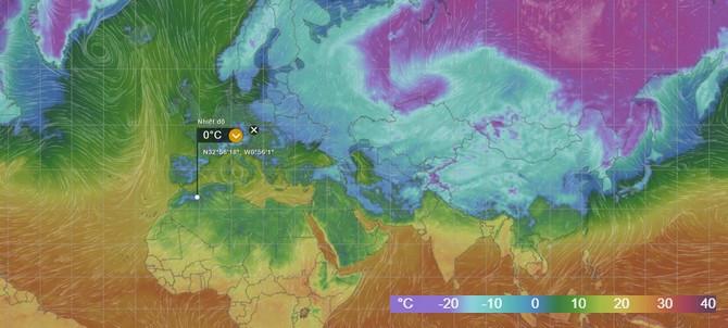 Những luồng khí áp cao liên tục thổi sâu xuống và giờ đây đã vượt qua ranh giới của vùng khí áp thấp