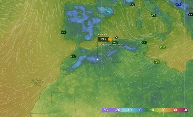 Đây là vị trí đã ghi nhận tuyết rơi tại sa mạc Sahara.