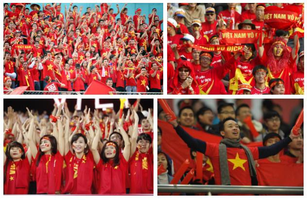 Các cổ động viên đầy nhiệt huyết của Việt Nam.