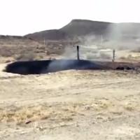 Hố cháy đen sâu 8m làm dấy lên giả thuyết về UFO hạ cánh