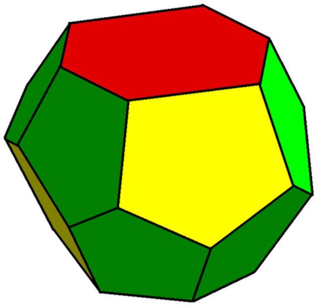 Hình dạng cơ bản của 1 tetrakaidecahedrons.