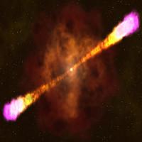 Vụ nổ tia gamma thu nhỏ trong phòng thí nghiệm