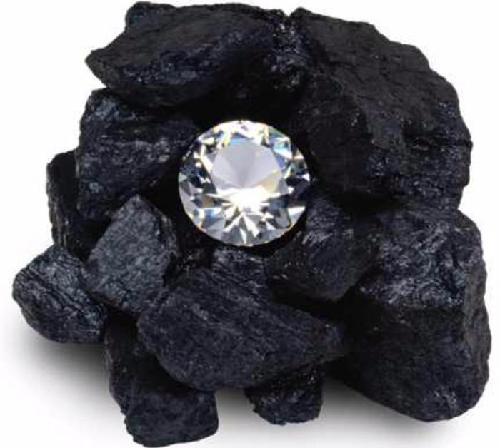 Với nhiệt và áp suất cao, than chì có thể được chuyển thành các viên kim cương tổng hợp.