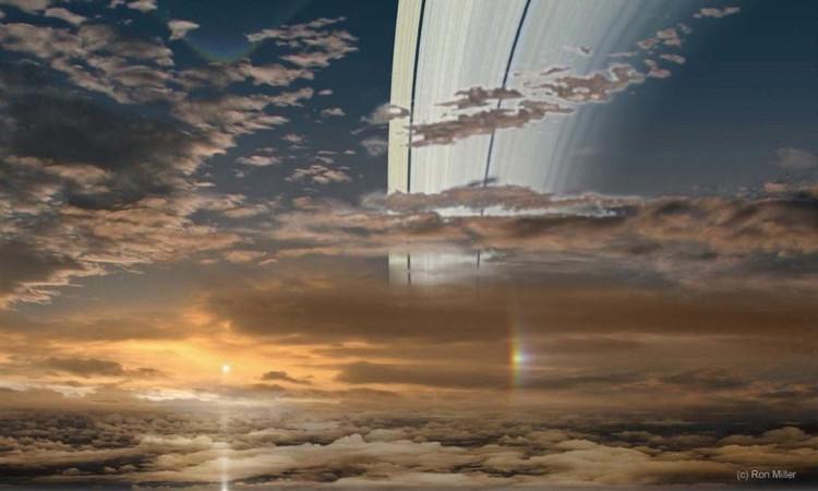 Mặt Trời nhìn từ sao Thổ