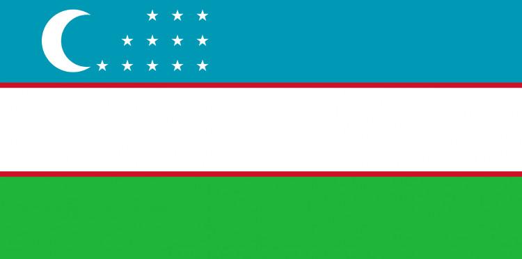 Quốc kỳ Uzbekistan.