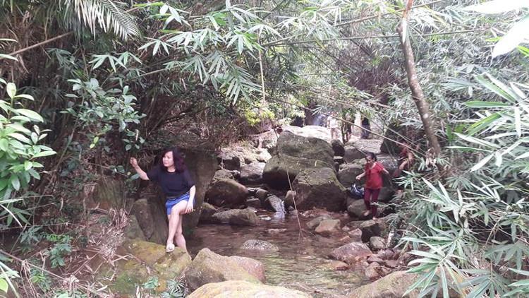 Hồ Yên Lập trên là thác nước và rừng nguyên sinh.