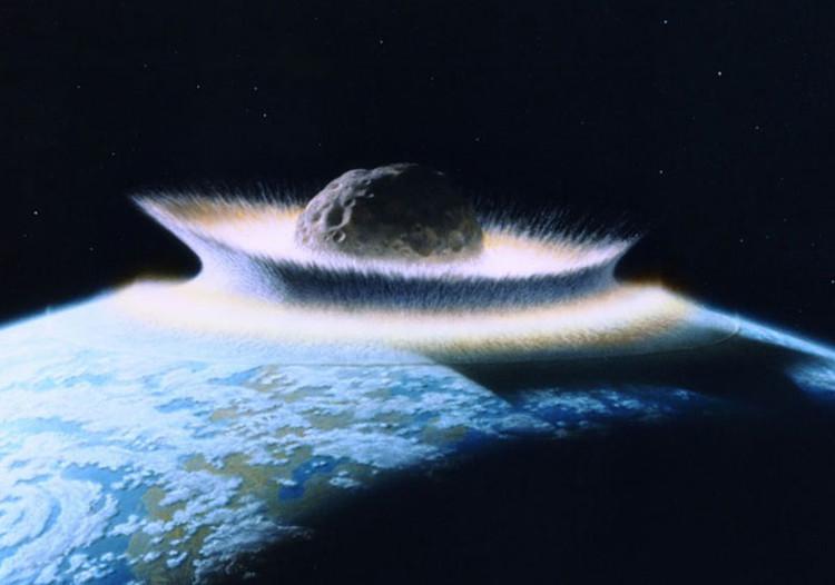 Mô phỏng thảm họa do tiểu hành tinh/thiên thạch gây ra đối với Trái đất.