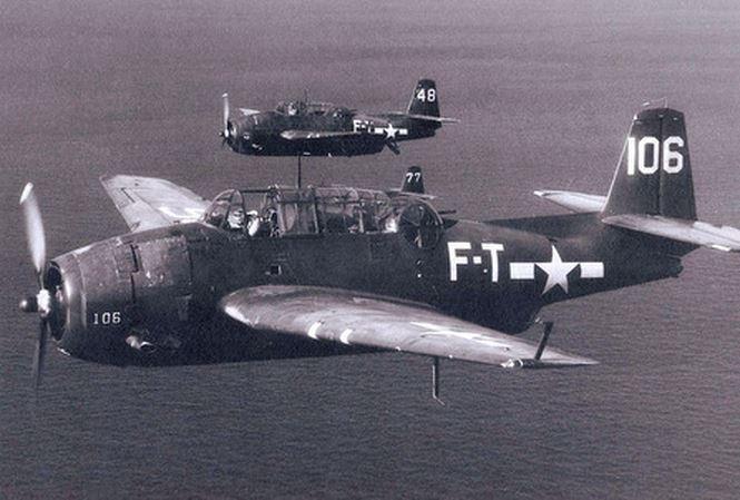 Oanh tạc cơ TBM cùng loại với máy bay mất tích thuộc Phi đội số 19.