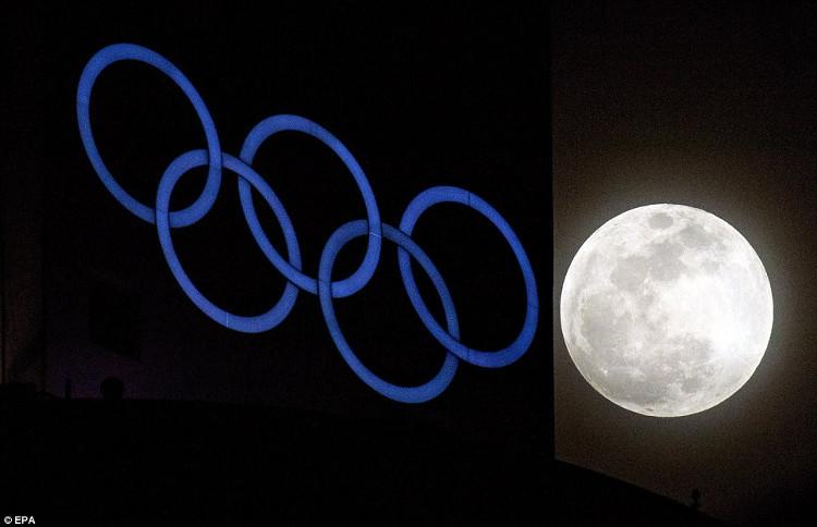 Siêu trăng tại PyeongChang, địa điểm sắp tổ chức olympic mùa đông 2018.